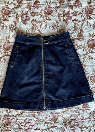 Спідничка джинсова , юбка mohito