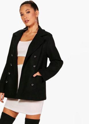 Крутое теплое пальто прямого кроя boohoo