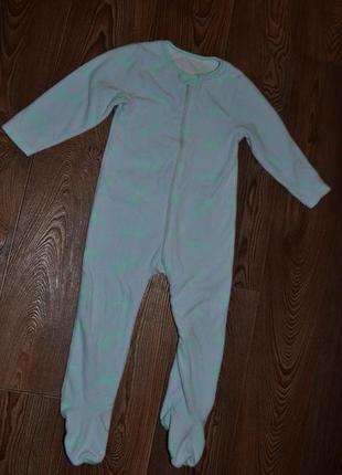 Флис слип пижама mothercare 18-24мес