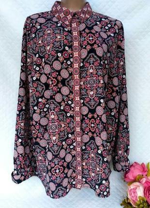 Шикарная рубашка в королевский принт размер 22 (54-58)