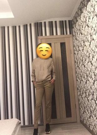 Бежевые / песочные / skinny / брюки/ штаны / чиносы stradivarius