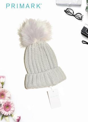 Новая шапка с помпоном primark