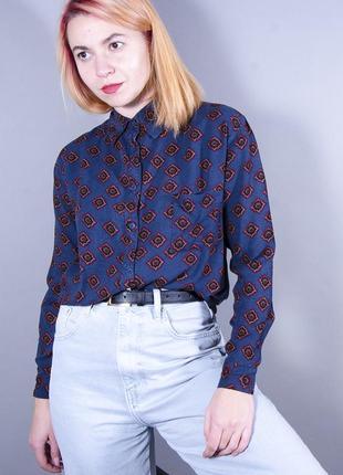 Женская рубашка, классическая рубашка с принтом, фиолетовая рубашка