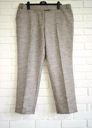 Стильные нарядные брюки с серебристым отливом next uk18 новые