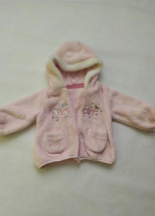 Детская демисезонная шубка на 3-6 месяцев