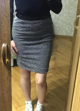 Базовая серая юбка, сіра спідниця