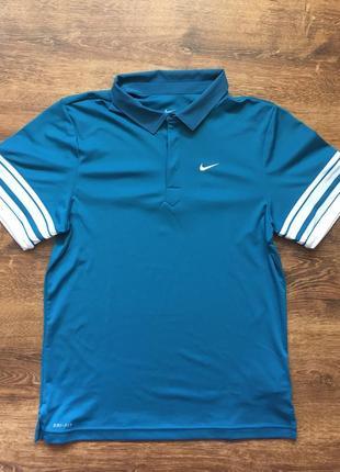 Nike dri-fit футболка поло