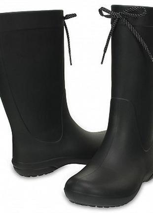Резиновые сапоги» женские crocs women's freesail rain boot w6