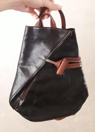 Стильный рюкзак/ сумка из натуральной кожи