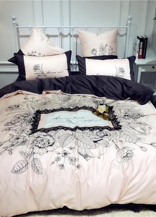 Элитное постельное белье с кружевом