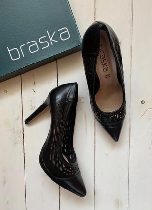 Туфли braska натуральная кожа. новые! braska