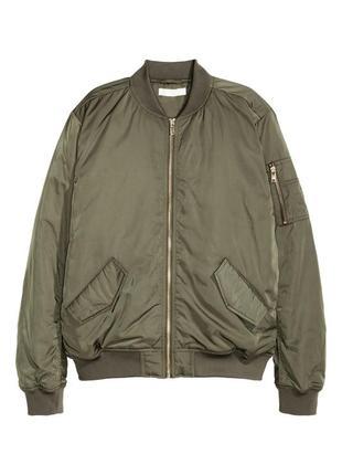 Демисезонная куртка бомбер нм h&m, новая с биркой