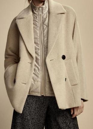 Massimo dutti мега стильное пальто оверсайз 100% оригинал max mara шерсть + альпака