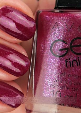 """Лак для нігтів """"гель-ефект"""" з блискітками avon (berry shimmer / ягідний блиск)"""