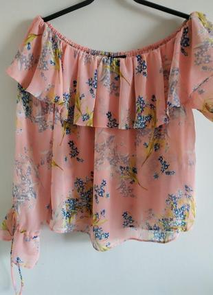 Прелестная романтическая блуза new look, размер 10,38
