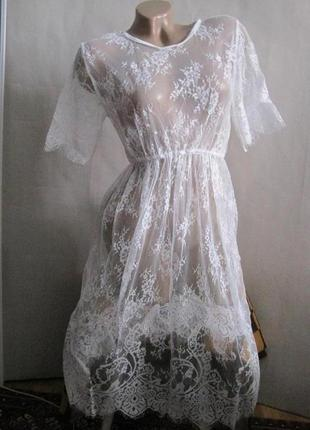 26 кружевное платье / прозрачный пеньюар