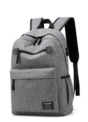 3-49 міський usb-рюкзак з вбудованим usb-портом городской стильный