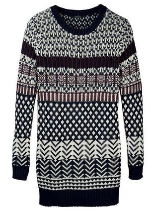 Теплое вязаное платье туника р. евро 44-46 l от esmara германия