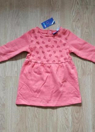 Платье утепленное lupilu на девочек 6-12 мес. замеры