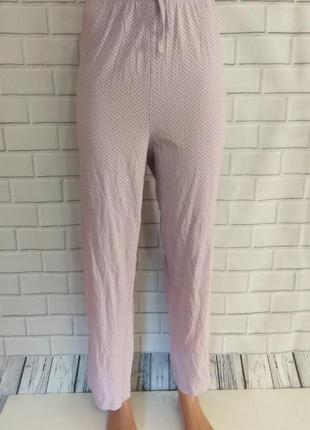 Штаны для дома и сна , пижамные штаны в горошек