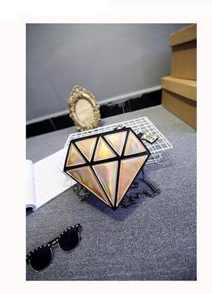 3-51 сумка в формі діаманта бриллиант, алмаз, драгоценный камень