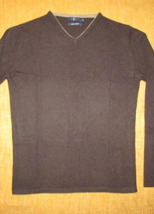Кашемировый свитер пуловер jasper conran р. m 100% кашемир