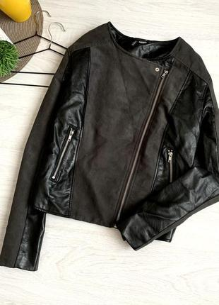 Косуха / куртка под замшу вставки кожзам