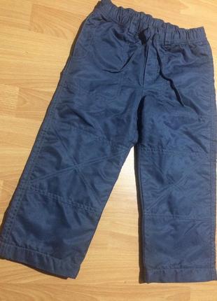 Утеплённые, зимние штаны на флисе. на 3/4 года