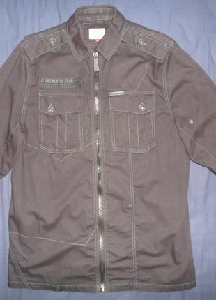 Рубашка-куртка бренда jack & jones, оригинал, размер l, цвет черный