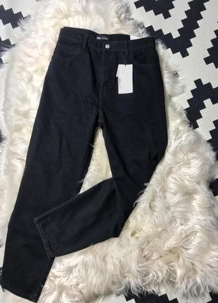 Zara джинсы мом/мам зауженные к низу / текущая коллекция