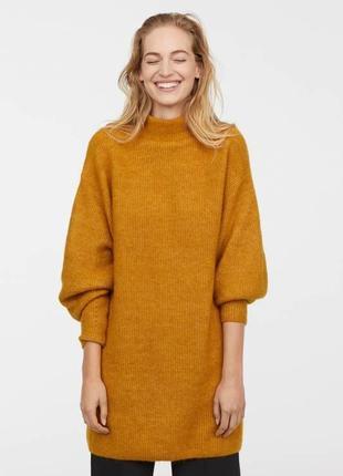 Платье, свитер, туника ,оверсайз  из шерсти и мохера.