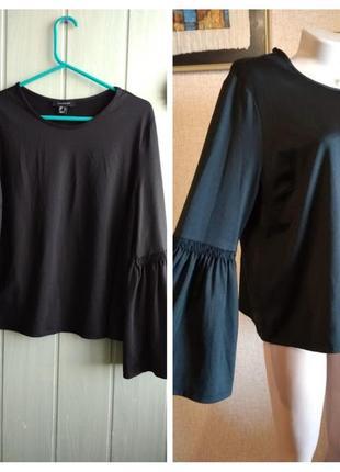 Модный топ, блуза с красивым длинным рукавом большого размера 20uk
