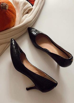 Кожаные лаковые туфли pelle pp 37