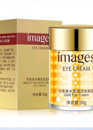 Легкий крем-гель для глаз images bright and moisture gold eye cream, 30 г.