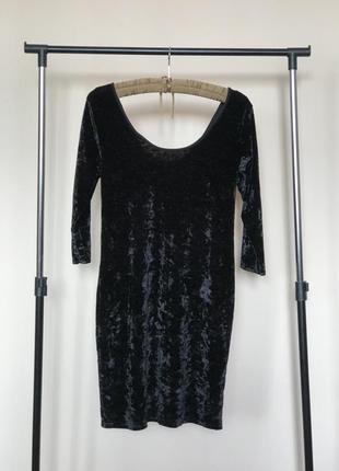Коктейльное велюровое платье