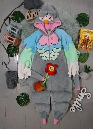Теплая флисовая пижама кигуруми слип сова №40