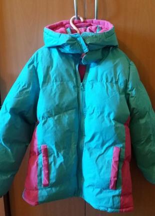 Курточка-пуховик на зиму для дівчинки 9-11 років