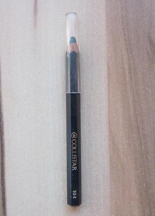 Карандаш для глаз collistar design eye pencil 104 petrolio темно-зеленый  тестер