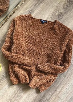 Шикарный велюровый свитер