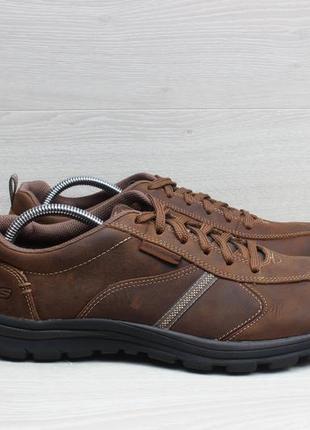 Кожаные мужские кроссовки skechers relaxed fit, размер 44