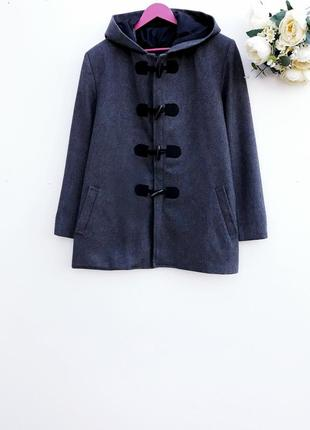 Красивое темно серое пальто мужское демисезонное пальто