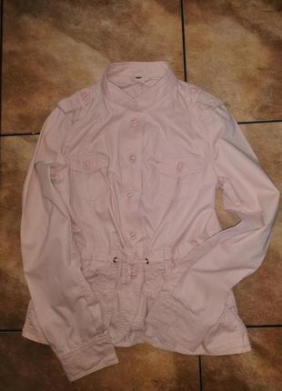 Брендовый пиджак пудрового цвета