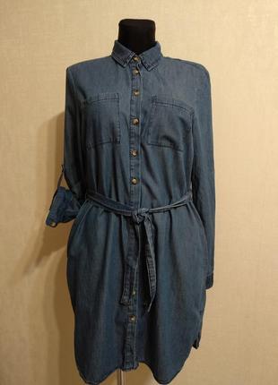Джинсовое платье рубашка  denim co
