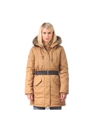 Парка горчичная удлиненная куртка на синтапоне element р-р s (нуждается в чистке)