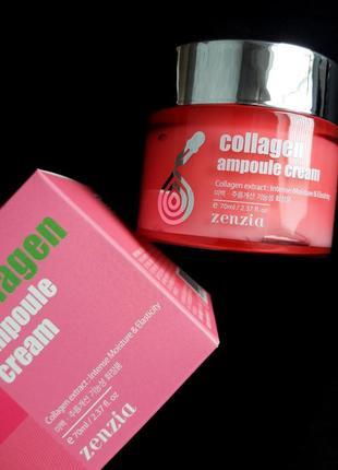 Крем для лица омолаживающий с коллагеном (корейский) zenzia collagen ampoule cream