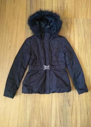 #теплая демисезонная куртка доя девочки 12-13 лет цена 299 грн