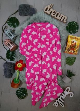 Теплая флисовая пижама кигуруми слип зайки №43