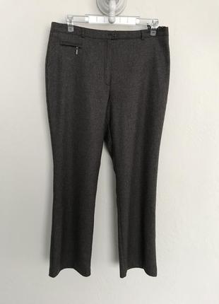 Зимние шерстяные брюки на подкладке, размер 14.