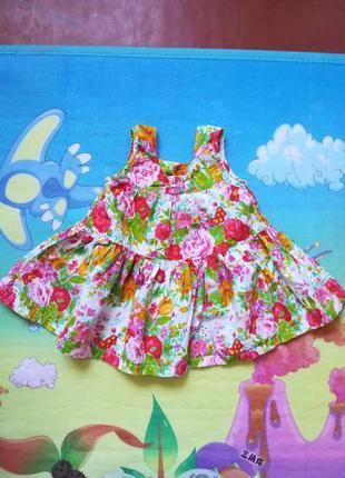 Легкое хлопковое платье.