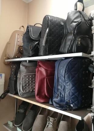 Мужской портфель рюкзак кожзам кожа шипи